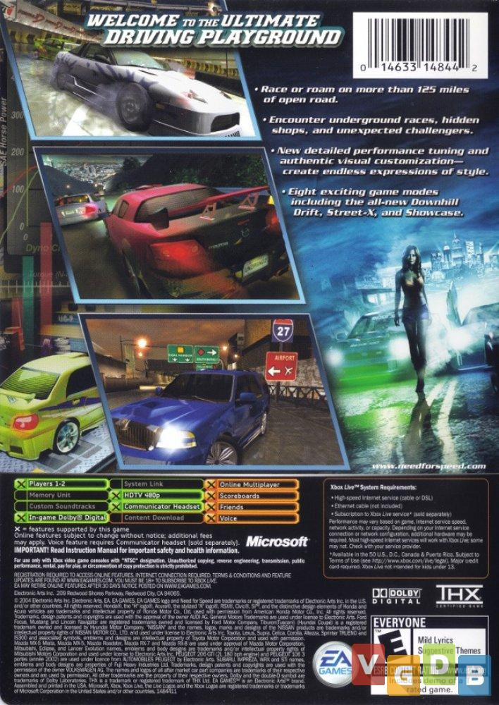 Need For Speed Underground 2 Vgdb Video Game Data Base